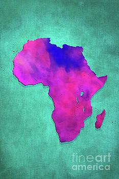 Justyna Jaszke JBJart - Africa map purple