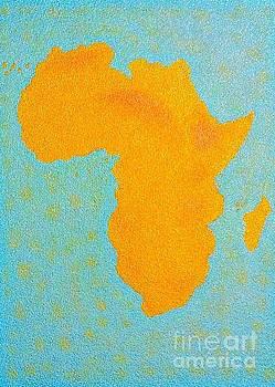Africa No Borders by Assumpta Tafari Tafrow Neo-Impressionist Works on Paper