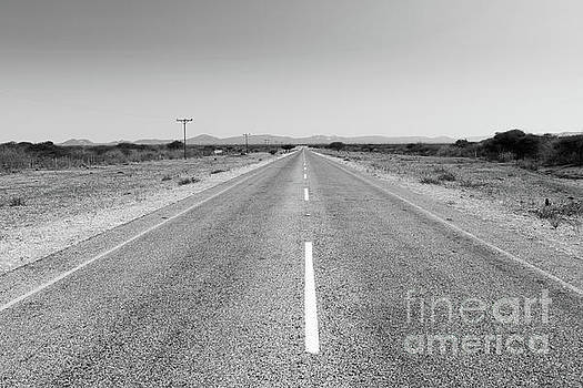 Tim Hester - Africa Road Black And White