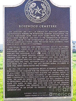 African-American Cemetary Marker, Galveston, Texas by Chuck Taylor