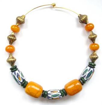 African Beads and Amber by Pat Stevens