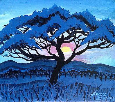 African Blue Mist by Portland Art Creations