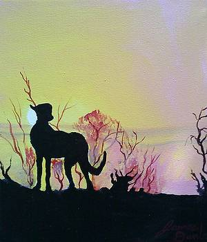 African Cheetah At Sunset by Portland Art Creations