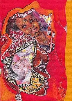 African crown by Bernadett Bagyinka