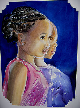 African faces by Shirley Roma Charlton
