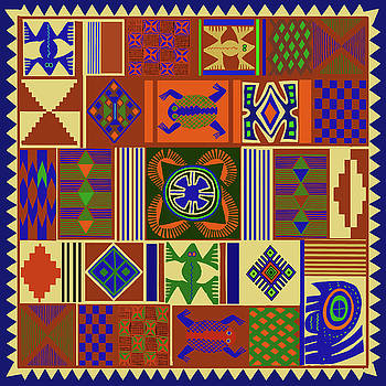 African Folk Art Quilt by Vagabond Folk Art - Virginia Vivier