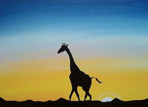 African Giraffe Of Zimbabwe by Portland Art Creations