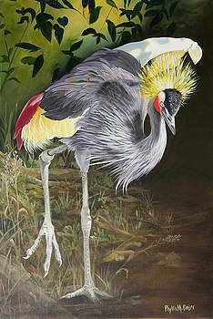African Grey-Crowned Crane by Phyllis Beiser