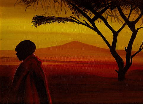 African Landscape by Catherine Eager