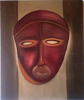 African Mask 1 by Delfina Mendonca