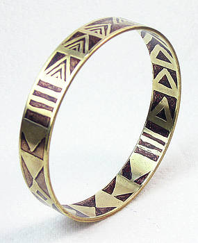 African Tribal Etched Bangle by Vagabond Folk Art - Virginia Vivier
