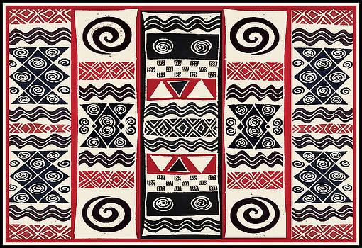 African Tribal Ritual Design by Vagabond Folk Art - Virginia Vivier