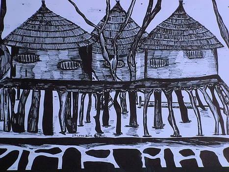 African Village by Edward Kofi Louis