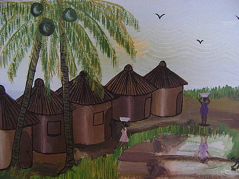 African Village Life by Victor Ablorh