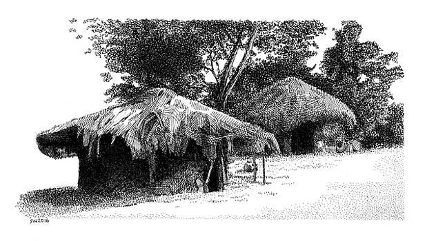 African Village Scene by Scott Woyak
