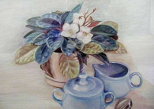 African Violet Still Life by Martha Ayotte