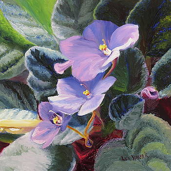 African Violets by Lea Novak