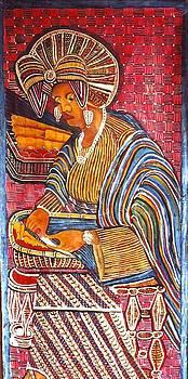 African woman cutting vegetable by Ngwanyam  Adolf