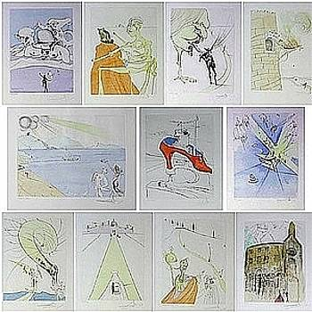 After 50 Years Of Surrealism Portfolio 1974 by Salvador Dali