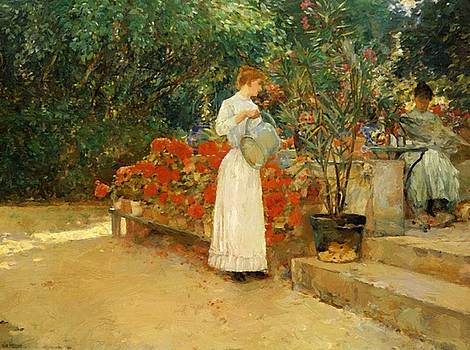 After Breakfast by Hassam Childe