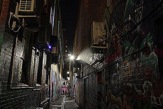 After-hours alley by Peter Krause