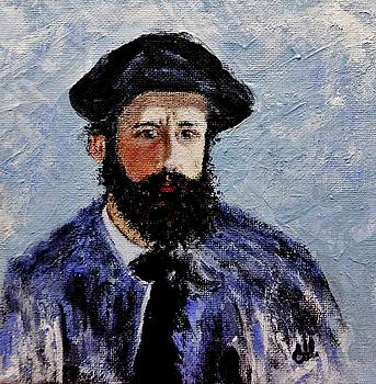 After Monet-Self portrait with a beret  by Cristina Mihailescu