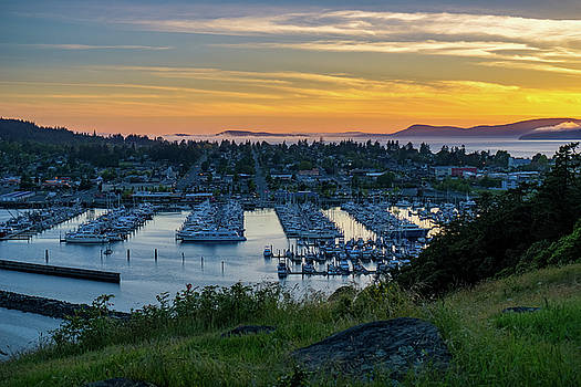 After Sunset at the Marina by Ken Stanback