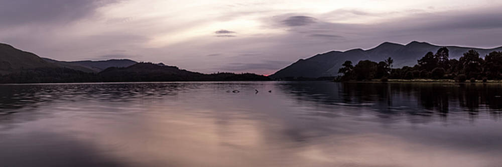 After sunset, Derwent Water by Russell Millner