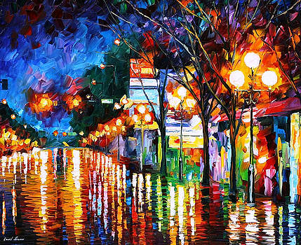After Weekend - PALETTE KNIFE Oil Painting On Canvas By Leonid Afremov by Leonid Afremov