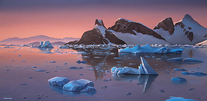 Cliff Wassmann - Afterglow Lemarie Channel Antarctica