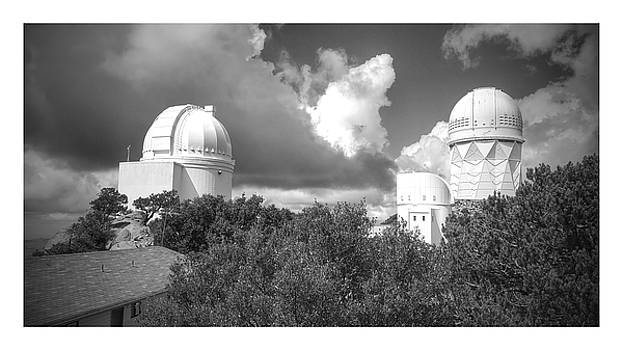 Afternoon clouds at the observatory by James Scotti