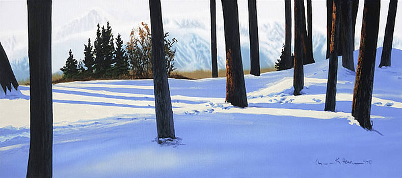 Afternoon in Snowy Mountains by Lynn Hansen