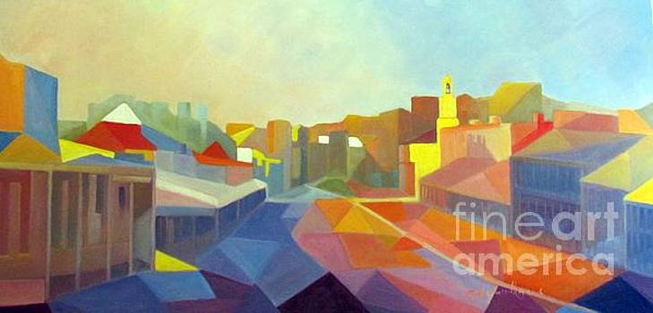 Afternoon light Beechworth by Audrey Russill