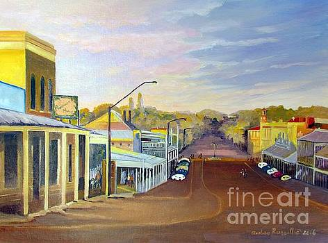 Afternoon Light Beechworth Victoria Australia by Audrey Russill
