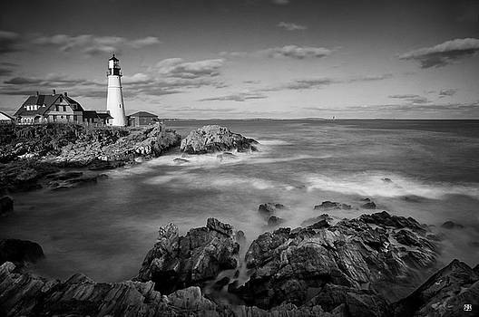 Afternoon Light in Black and White by John Meader
