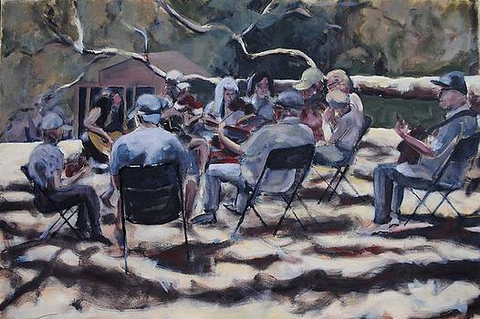Afternoon Pickers by Richard Willson