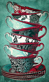 Afternoon Tea Aqua by Mindy Sommers