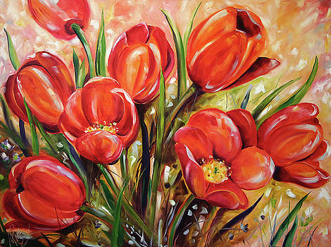 Afternoon Tulips by Laurie Pace