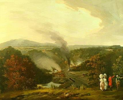 Williams William - Afternoon View Of Coalbrookdale Shropshire 1777