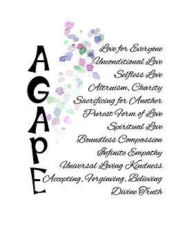 Agape-Words of Love by Judi Saunders