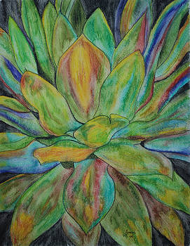Agave Watercolor by Lisa Gabrius
