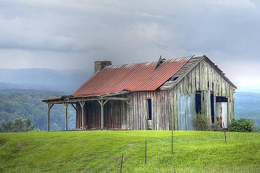 Aged Barn by Laura Greene