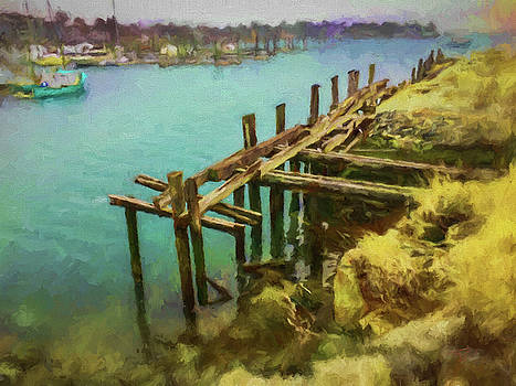 Thomas Logan - Aged Docks from Winthrop