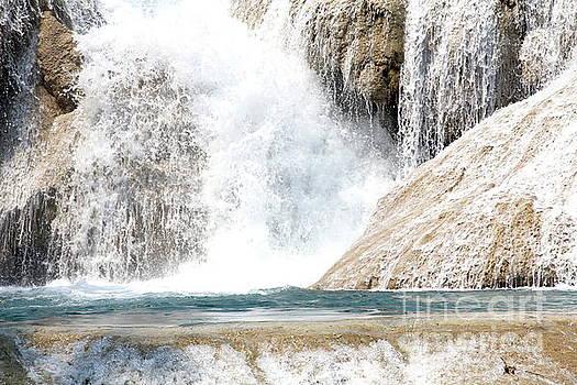 Agua Azul Waterfall Chiapas Mexico by Linda Queally