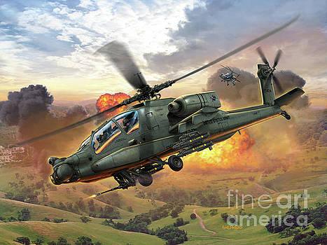Ah-64 Apache by Stu Shepherd