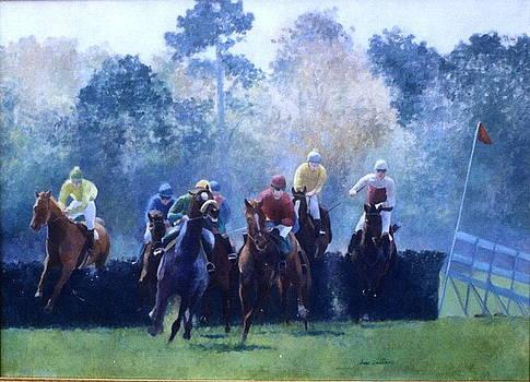 Aiken Steeplechase First Race by Anne Lattimore