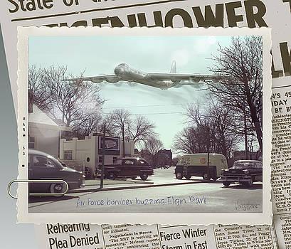 James Vaughan - Air Force Bomber Buzzes Elgin Park