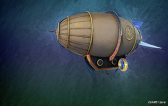 Airship in Flight by Ken Morris