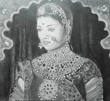 Aishwarya as Jodha the Rajput princess by Shweta Mattoo Koul