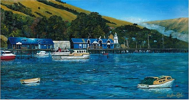 Akaroa Harbour by Peter Jean Caley